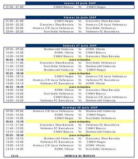 Horarios Torneo Madrid 09