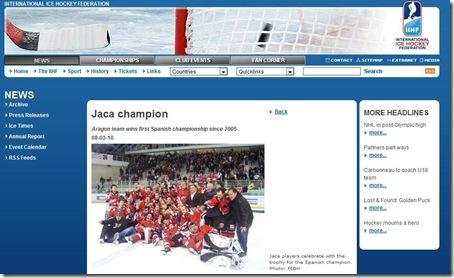 IIHF - Jaca Campeón Liga 09-10