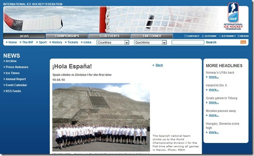 Noticia IIHF